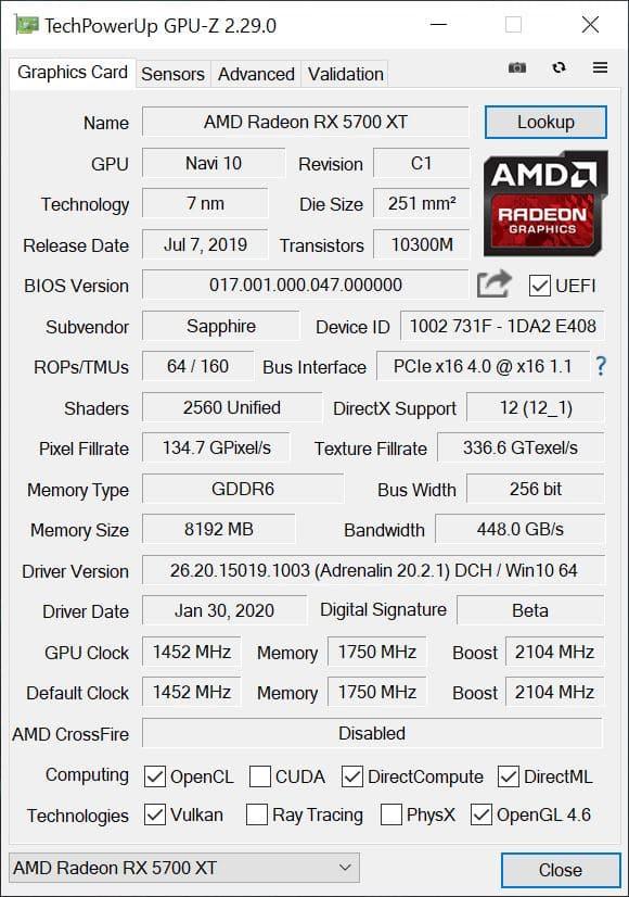 Мы уже можем восхищаться новыми данными в GPU-Z